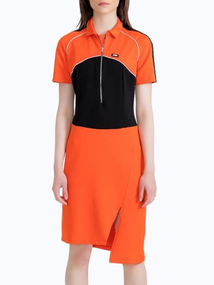 #VDR Orange šaty (1)