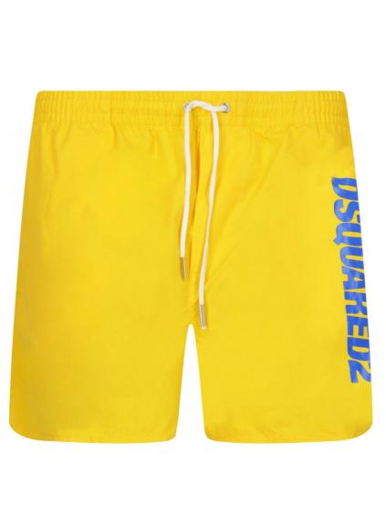 Produkt DSQUARED2 Logo Yellow plavky (3)