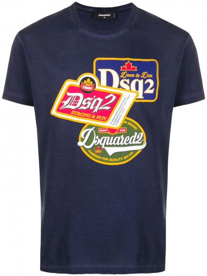 Dsqured2 Logo - pánske tričko blu