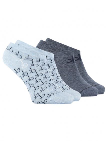 CALVIN KLEIN Blue 2 Pack ponožky