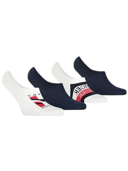 TOMMY HILFIGER Navy 4 Pack ponožky