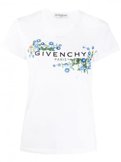 GIVENCHY Floral Logo tričko