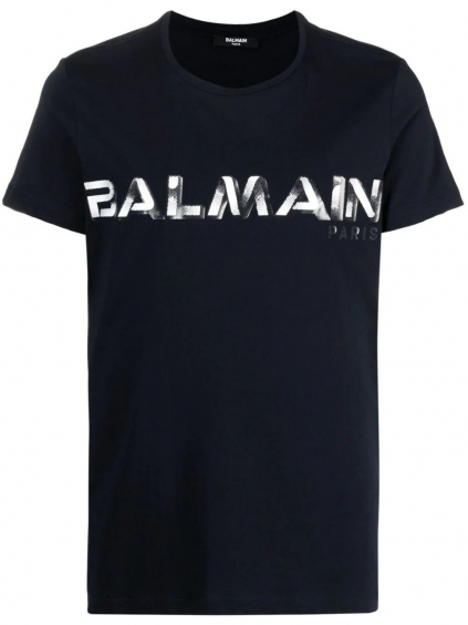 balmain paris logo blue tricko 2 (4)