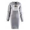 WHITNEY JEANS dámska mikina šaty sivé (1)
