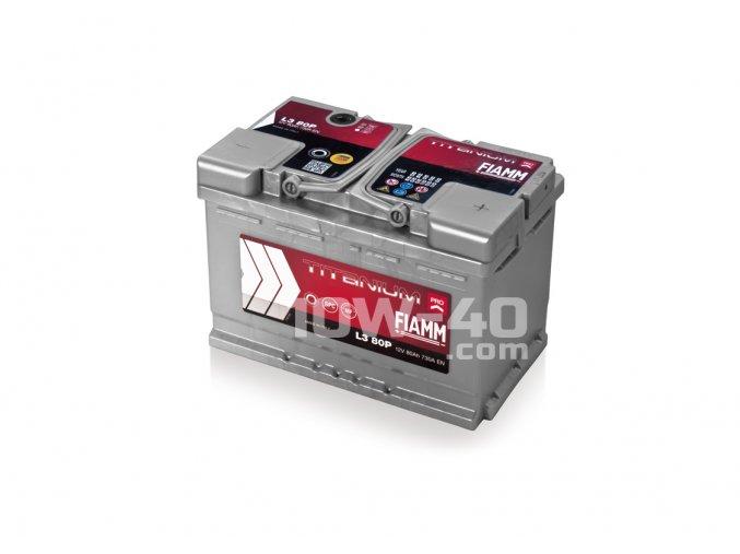 Autobaterie FIAMM Titanium Pro 80Ah 12V 730A