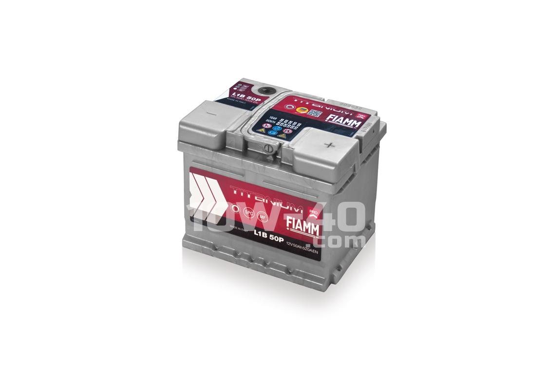 Autobaterie FIAMM Titanium Pro 50Ah 12V 520A