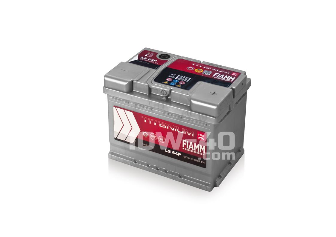 Autobaterie FIAMM Titanium Pro 64Ah 12V 610A FIAMM L2 400 12V 640A (náhrada)