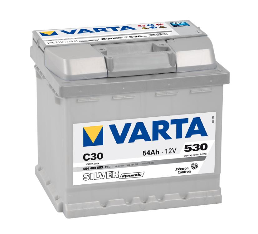 Autobaterie VARTA SILVER Dynamic 54Ah 12V C30