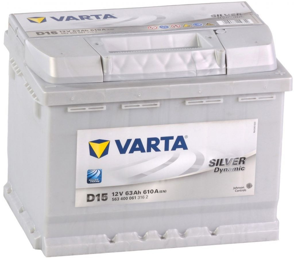 Autobaterie VARTA SILVER Dynamic 63Ah 12V D15
