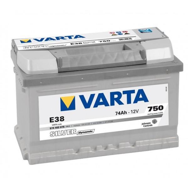 Autobaterie VARTA SILVER Dynamic 74Ah 12V E38