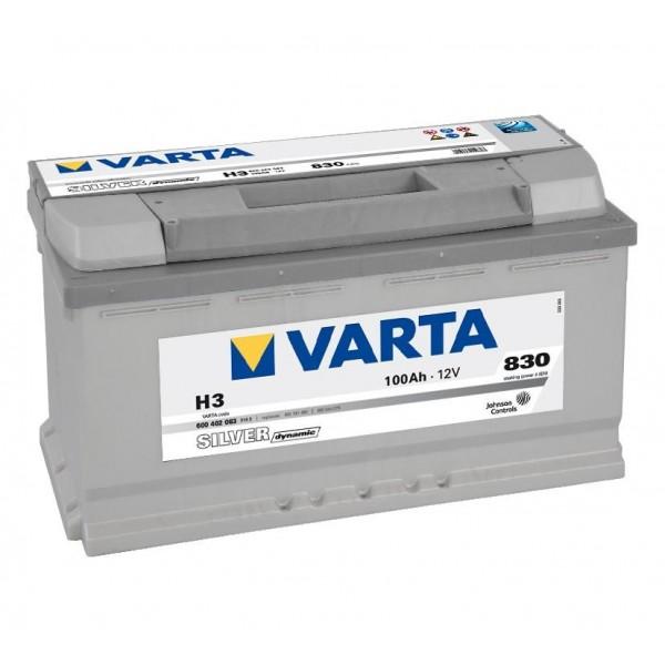 Autobaterie VARTA SILVER Dynamic 100Ah 12V H3