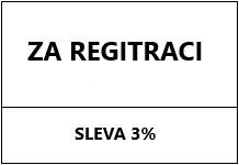 Sleva za registraci 3%