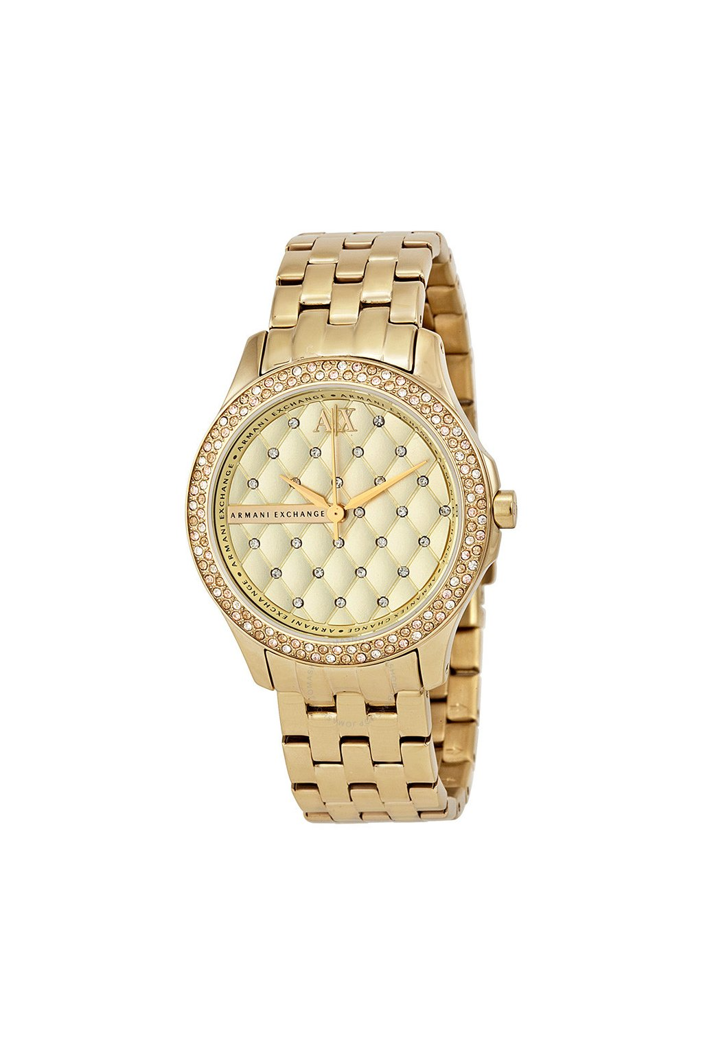 armani exchange lady hamilton champagne dial unisex watch ax5216