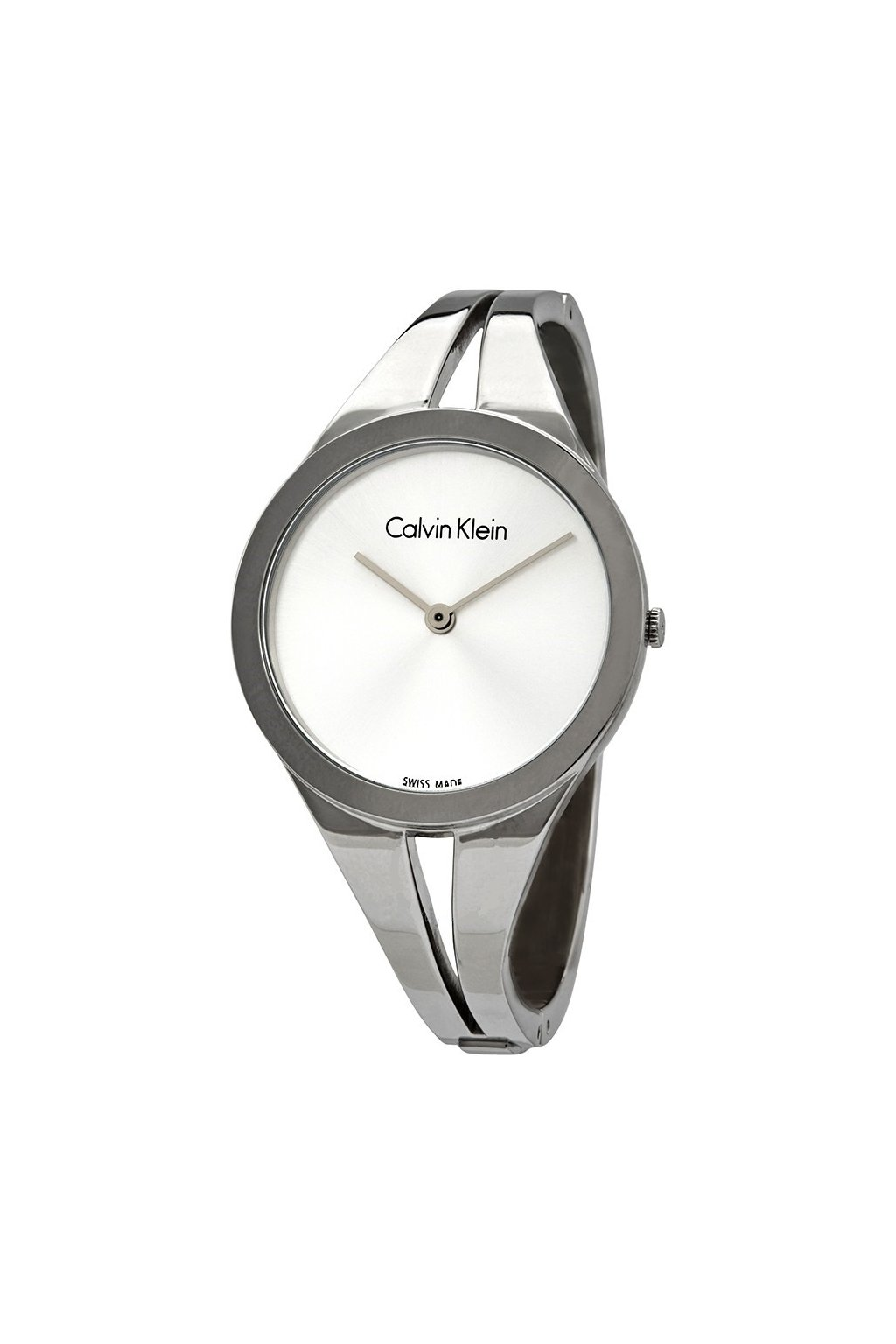 calvin klein addict silver dial ladies small bangle watch k7w2s116