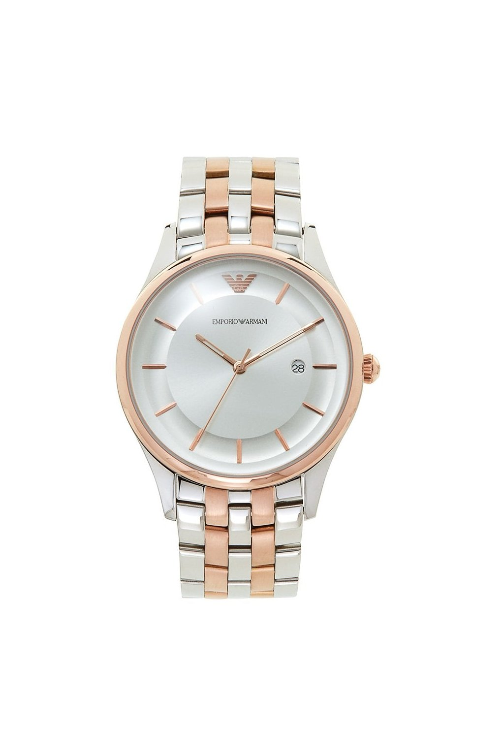 emporio armani watches ar11044 rose gold silver stainless steel mens watch p31893 37035 image