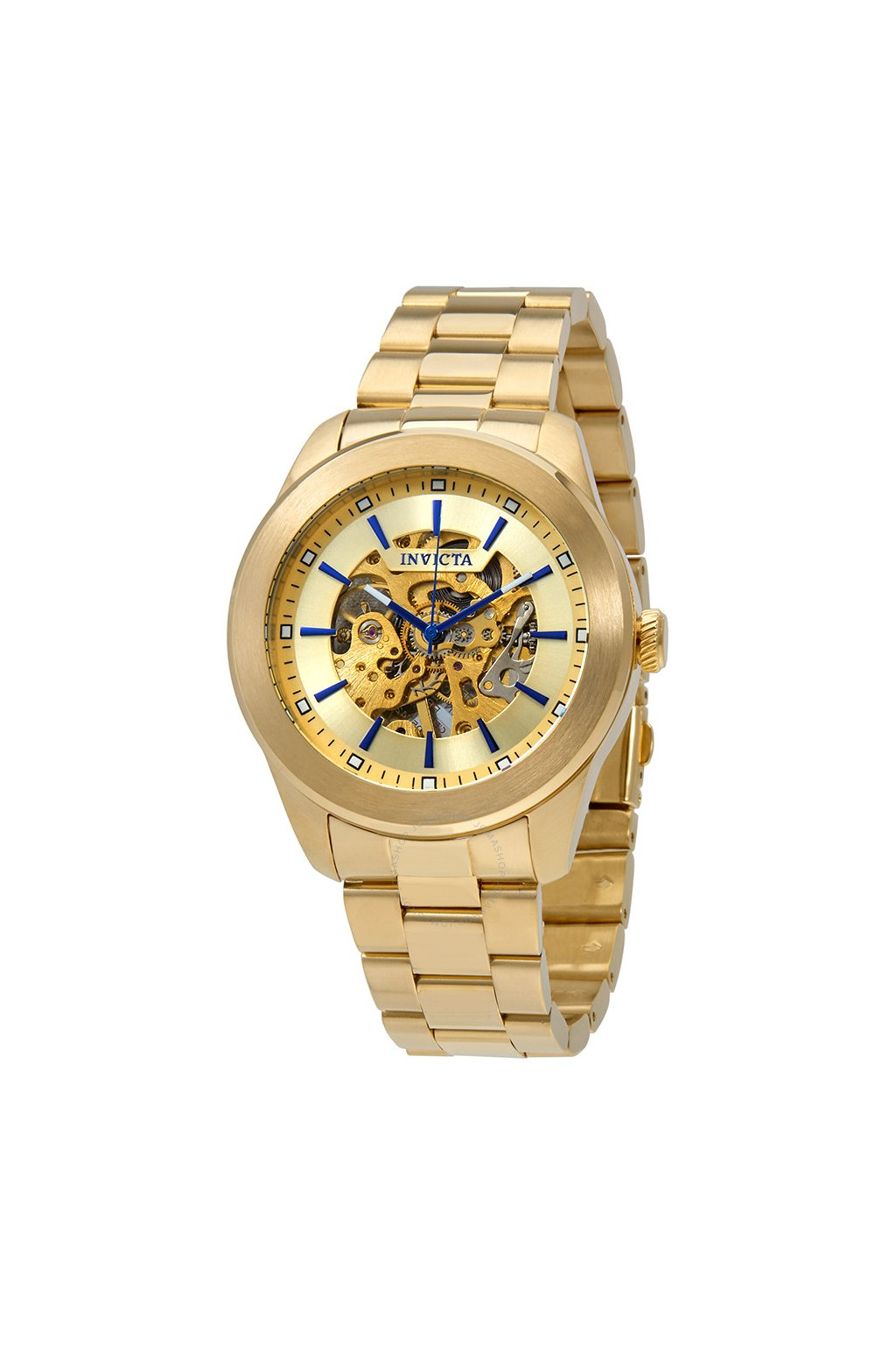 invicta vintage automatic gold skeleton dial men s watch 25759