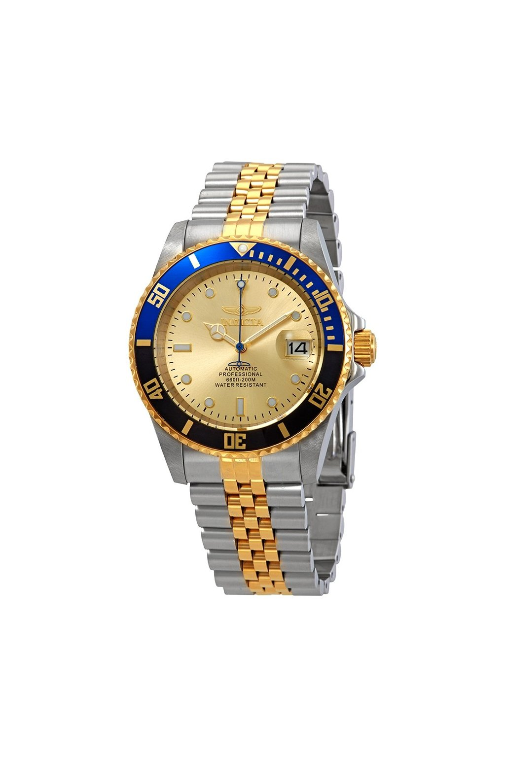 invicta pro diver automatic gold dial men s watch 29181