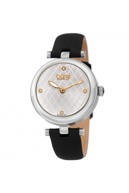 burgi quartz diamond silver dial ladies watch bur196ssb