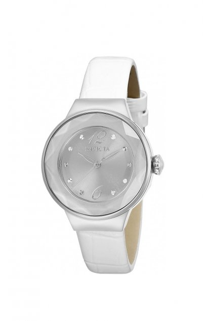 invicta angel quartz silver dial ladies watch 29781