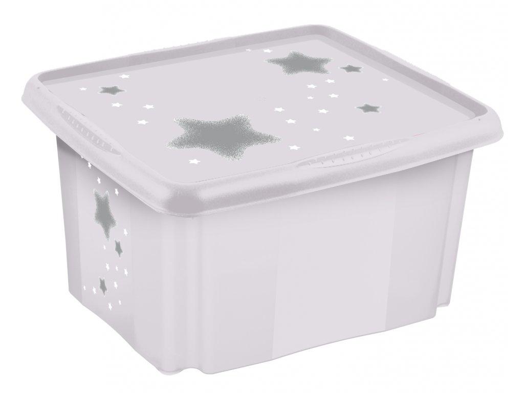 Keeper úložný box s vekom Stars biela