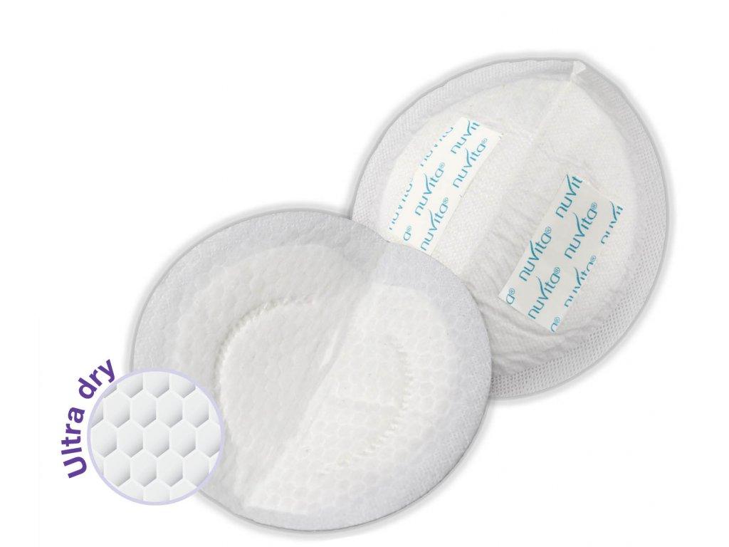 Nuvita jednorázové nočné prsné vložky 60 kusov