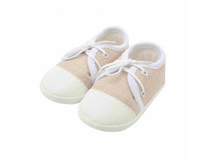 Dojčenské capačky tenisky New Baby jeans béžové