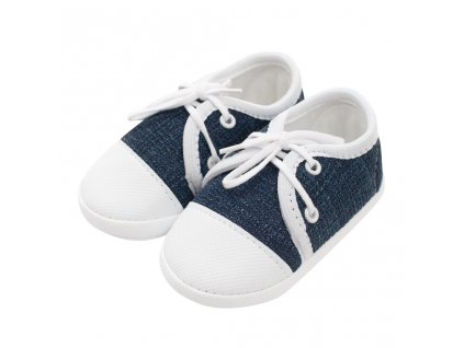 Dojčenské capačky tenisky New Baby jeans modré