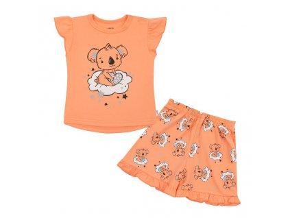 Detské letné pyžamko New Baby Dream lososové