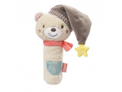 Baby Fehn pískacia hračka do ruky Bruno
