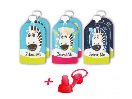 Zebra&Me kapsičky na opakované použitie 6ks + náustok zadarmo