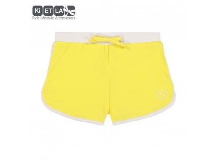 KiETLA plavky-šortky s UV ochranou Žlté