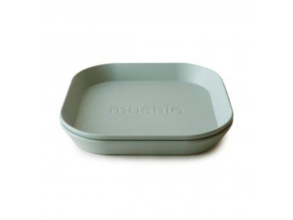 Mushie hranatý tanier 2 kusy