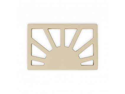 Mushie silikónové hryzátko Sun