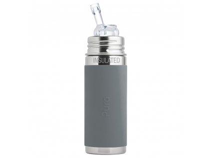 Pura nerezová termo fľaša so slamkou 260 ml