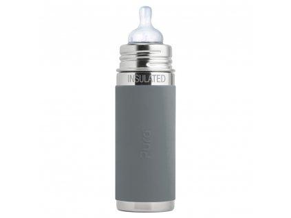 Pura nerezová termo fľaša s cumlíkom 260 ml