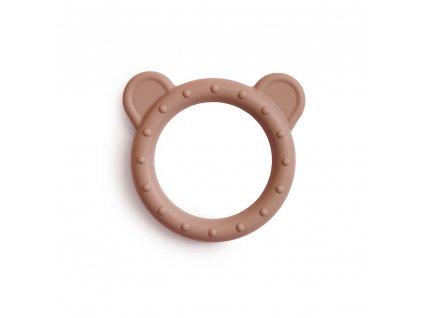 Mushie silikónové hryzátko - medvedík Bear