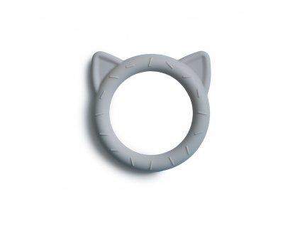 Mushie silikónové hryzátko - mačička Cat