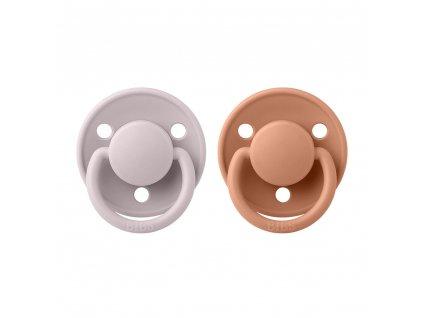 BIBS cumlíky De Lux silikónové veľkosť One Size Pink Plum - Peach