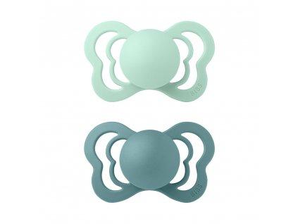 BIBS cumlíky Couture silikónové veľkosť 2 Nordic Mint - Island Sea