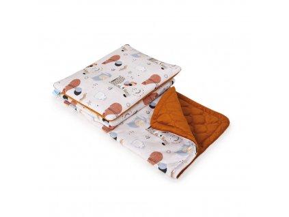 Detská deka a vankúšik Ceba Baby 75 x 100 cm
