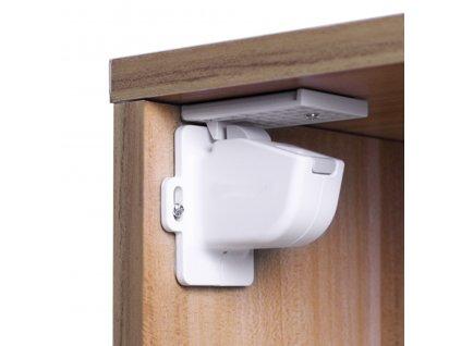 Zopa magnetický uzáver skriniek / zásuviek 4ks white