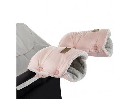 PETITE&MARS Rukávnik / rukavice Jasie na kočík Flamingo Pink