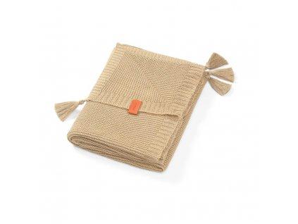 BabyOno pletená bambusová deka hnedá