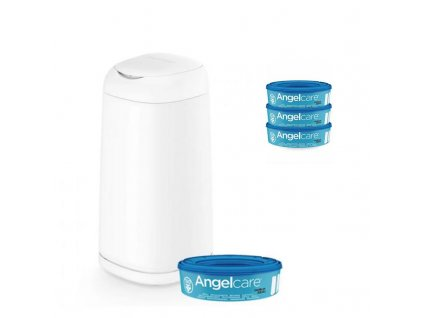 Kôš na plienky Angelcare Dress Up + 1 kazeta + náhradné kazety 3 ks