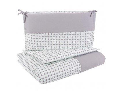 CEBA Bielizeň posteľná 3-dielna džerzej Biele bodky