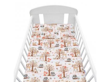 2-dielné posteľné obliečky New Baby 100/135 cm lesný príbeh