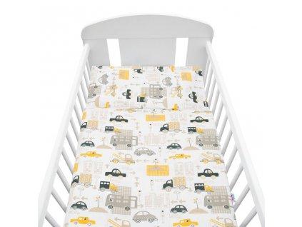 2-dielné posteľné obliečky New Baby 100/135 cm autíčka