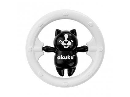 Hrkálka Akuku medvedík čiernobiely