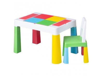 Detská sada stolček a stolička Tega Multifun
