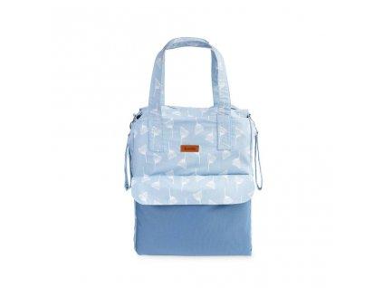 Prebsľovacia taška Sensillo Mama Modré púpavy